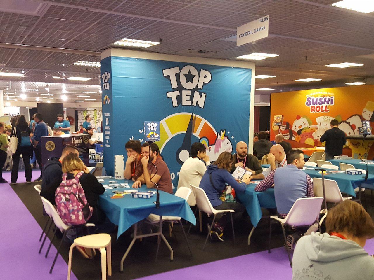 Top Ten d'Aurélien Picolet, le nouveau jeu d'ambiance chez Cocktail Games.