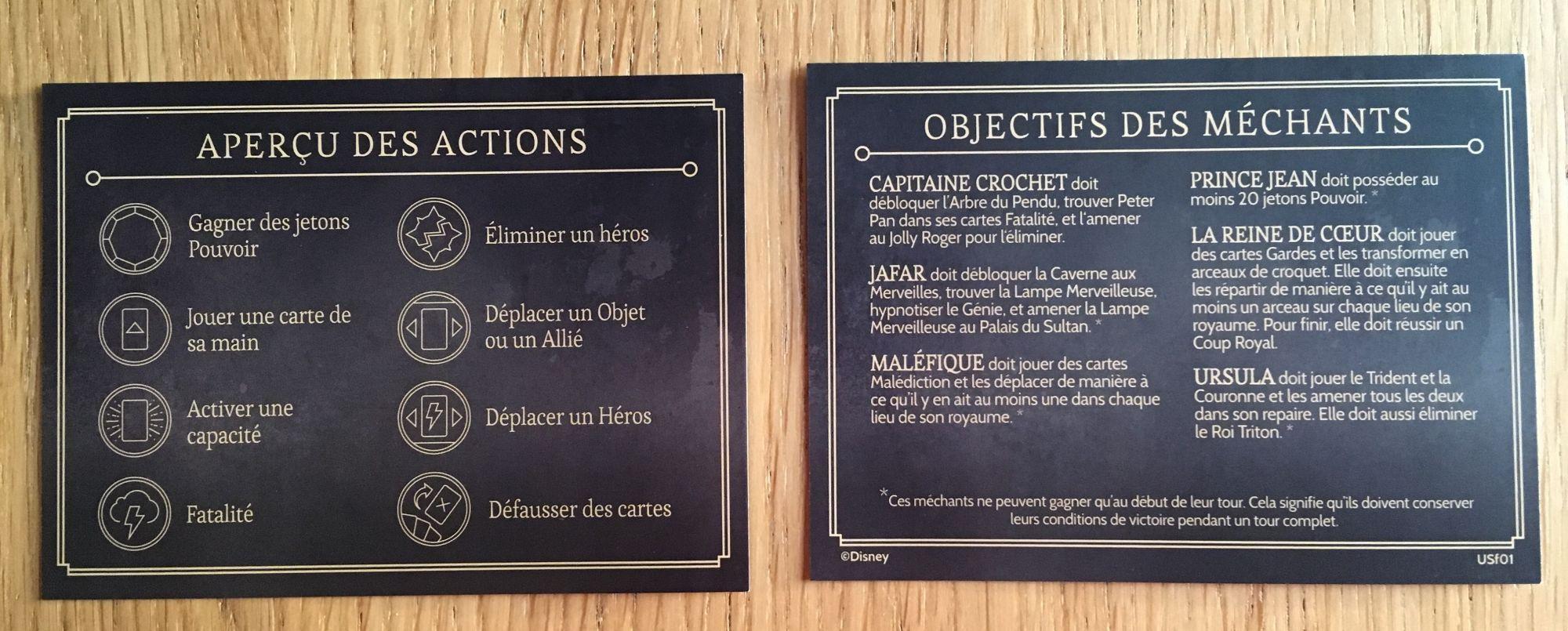 Les actions et les objectifs