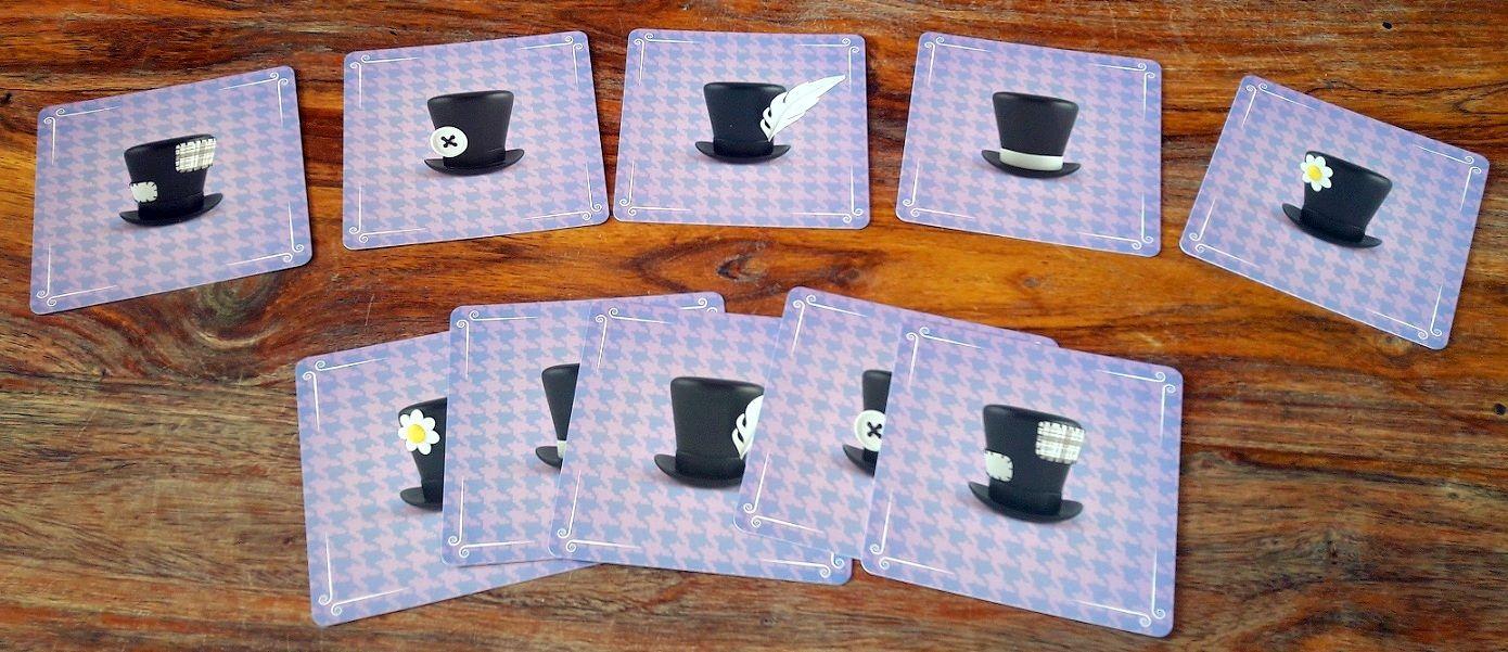 2 cartes de chaque chapeau, un seul manquera à l'appel : celui du coupable !