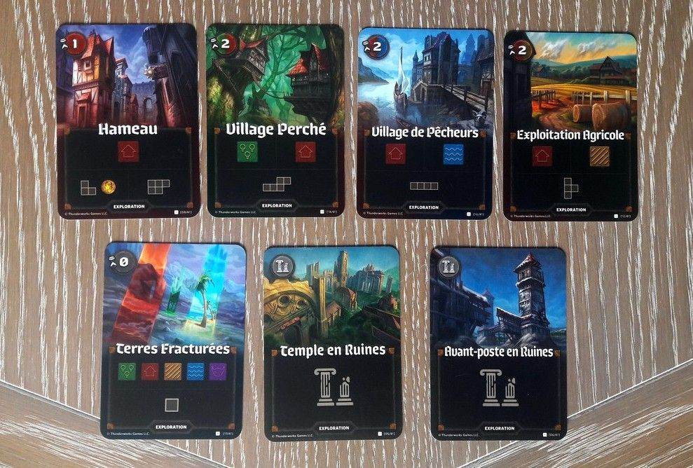 "Les cartes ""exploration""  2/2"