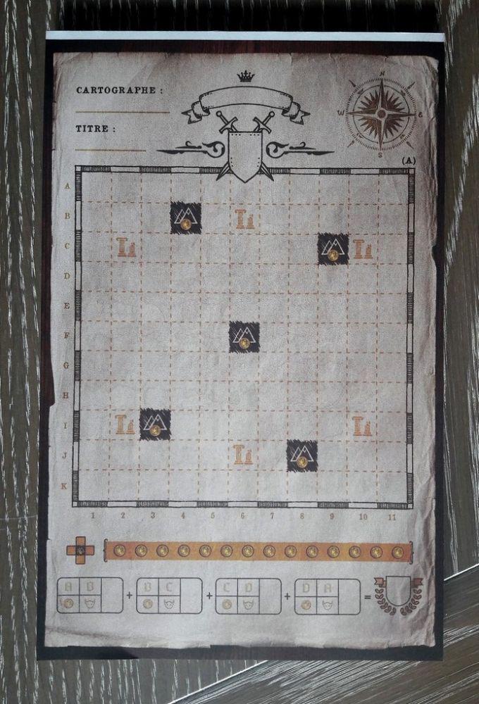 Le Recto (facile) :  voici la carte de tout le royaume avant son exploration.  Tout l'espace est disponible ... ou presque.