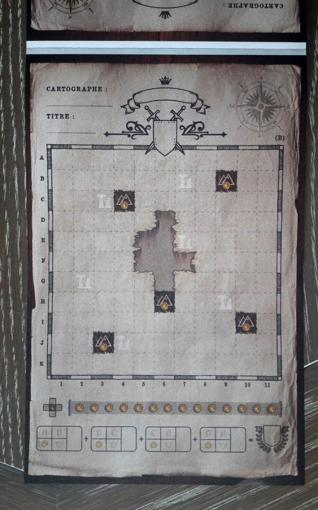 Le Verso : une partie centrale de la carte est inaccessible.