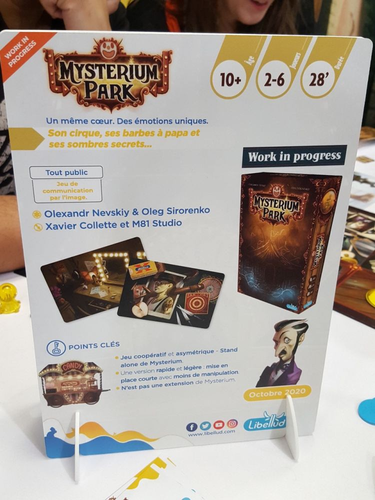 Le jeu, qui est un stand alone, est prévu pour octobre 2020 dans un format de boite à la Shadows Amsterdam et il sera compatible avec la boite de base.