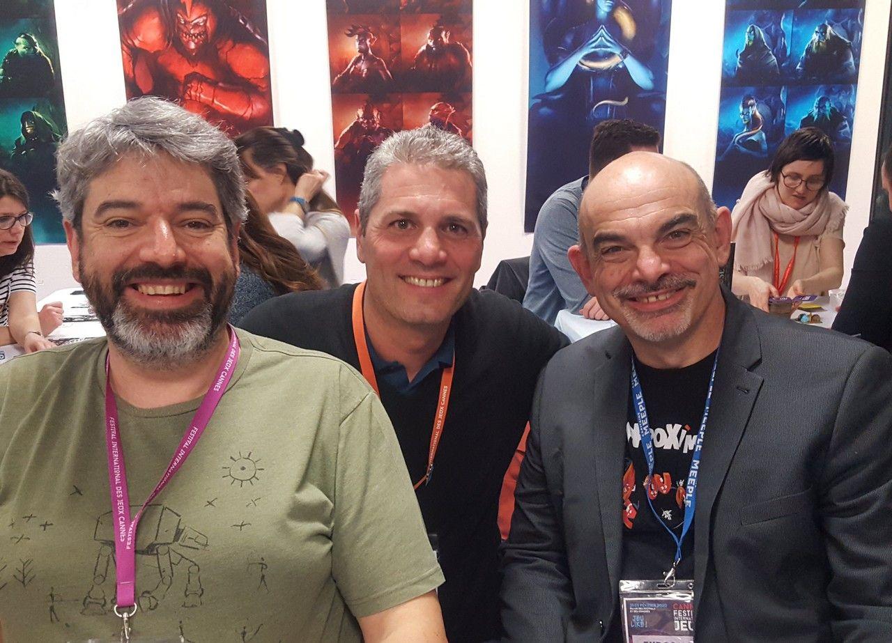 Toujours un grand plaisir de retrouver Bruno Cathala et Charles Chevallier.