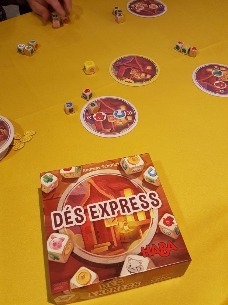 Dés express, un jeu de dés(!!!) d'Andreas Schmidt à partir de 8 ans.