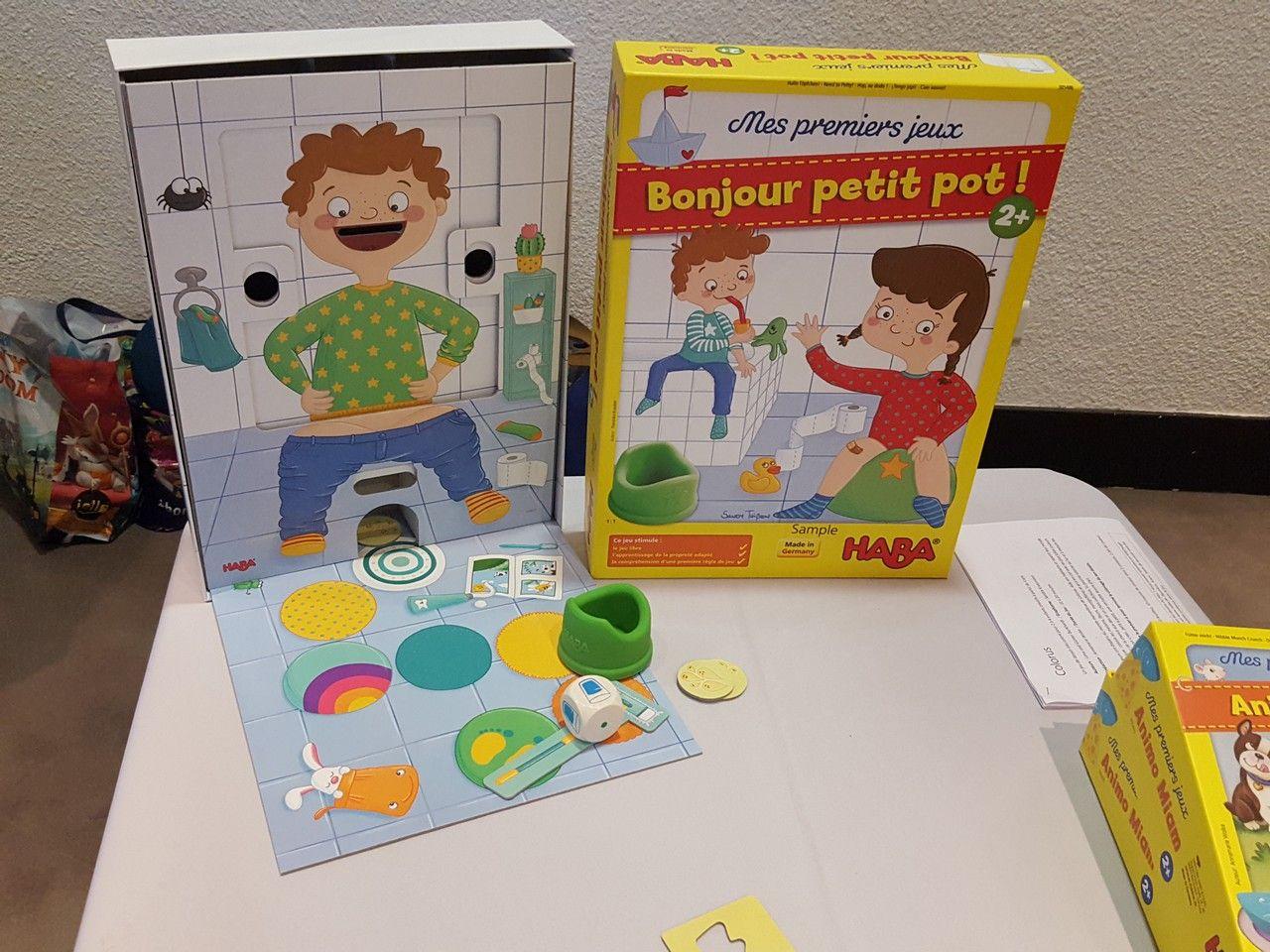 Bonjour petit pot ! dans la gamme mes premiers jeux de Francisa Knauber à partir de 2 ans.