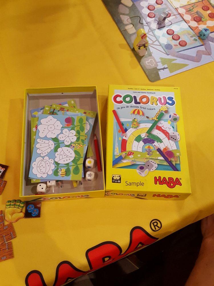 Colorus un jeu de roll and coloriage  Lena et Günter Burkhardt à partir de 4 ans.