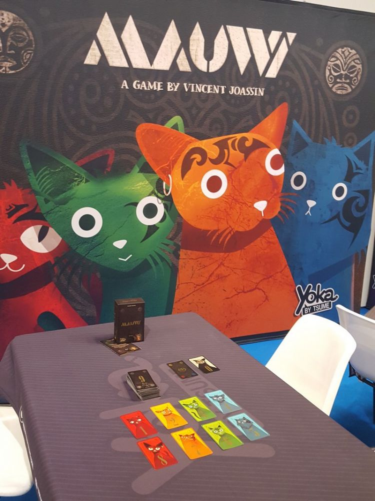 Et notre petit chouchou chez Jedisjeux : Mauwi le jeu créé et illustré par Vincent Joassin.