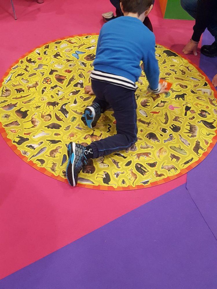 ... ou sur tapis géant !