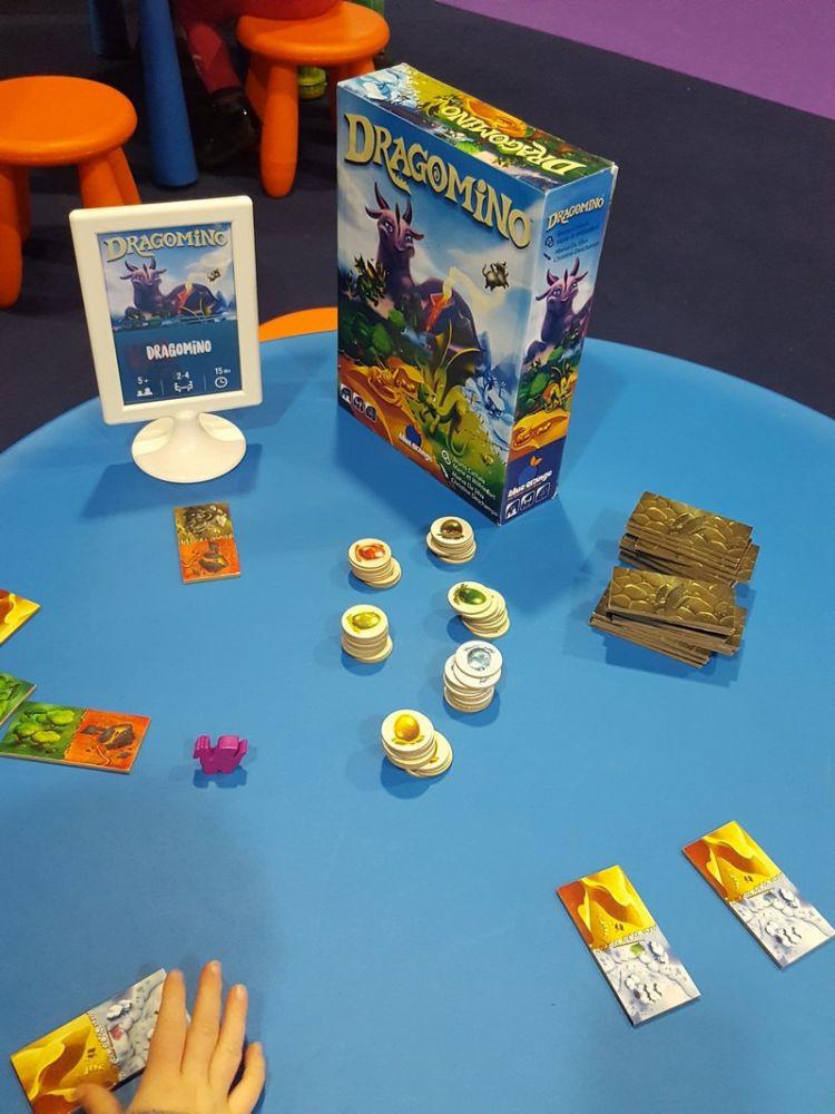 Le prototype de Dragomino, le jeu pour enfant dans la famille de Kingdomino, un jeu de Bruno Cathala et... roulement de tambours Wilfried et Marie Fort !!!!!!!!