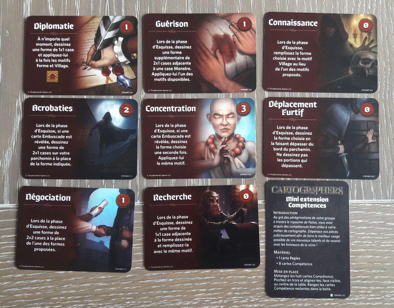 Les 8 cartes de la mini extension en VF