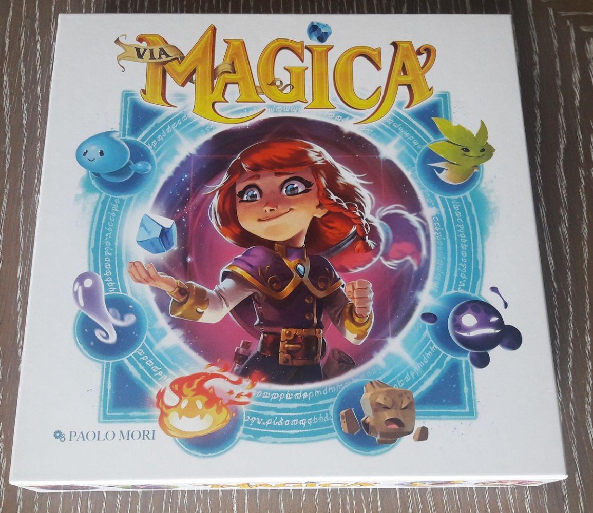 La boîte ...  très cartoon, voir manga dont le thème est une fusion entre Harry Potter et Pokemon.