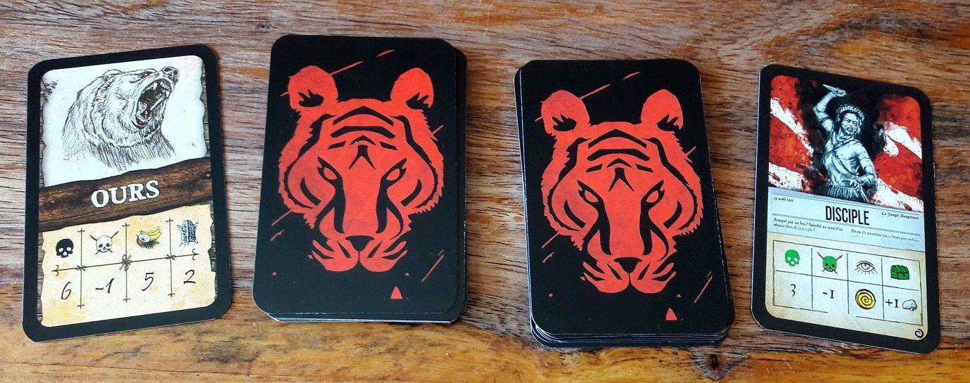 Les cartes animaux du jeu de base Edge (à gauche) sont également parfaitement compatibles avec les cultistes de l'extension Edge (à droite)