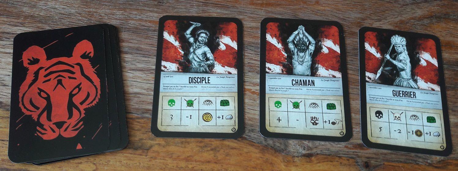 Ces cartes ayant le même dos que les cartes animaux viendront se melanger à celui-ci ajoutant ainsi une certaine difficulté à la chasse