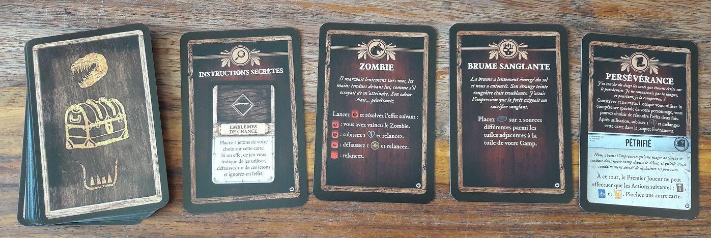 de nouvelles mystères ajoutent (de gauche à droite) des indices, des bête mystique, des sorts et des malédictions