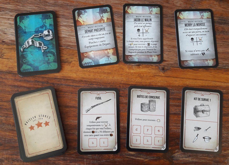 De nouvelles mini-cartes sont ajoutés les bagnards (pour le scénario 2) et les équipements pour la campagne