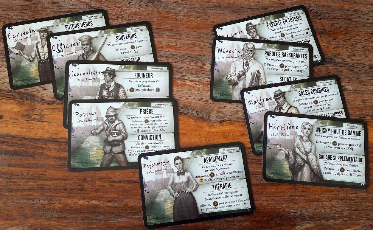 9 personnages possibles avec des profiles et des pouvoirs autant diverses que variés !