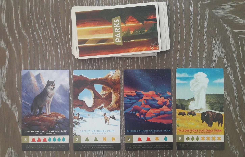 Les cartes 'Parcs'