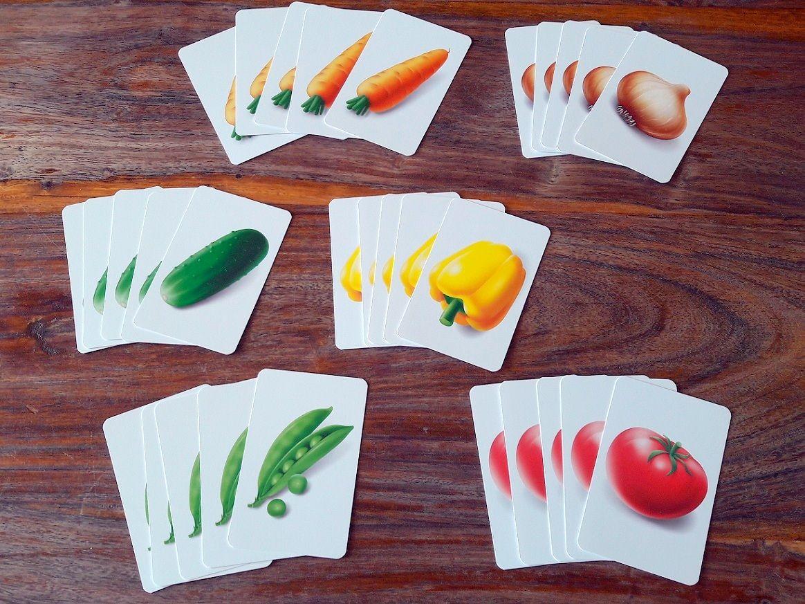 Ces cartes légumes seront au coeur du jeu et permettront d'avancer sur  le prochain légume visible.