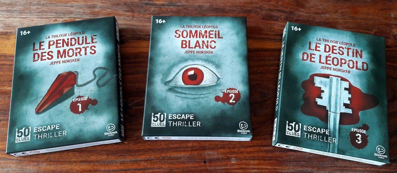 Les 3 Escape thriller se suivent et racontent chacune la suite de l'histoire précédente mais elles restent indépendantes.