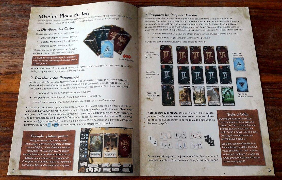 Superbes règles bien illustrées et expliquées même si la profusion de cartes et de combinaisons possibles crée beaucoup de cas limites...