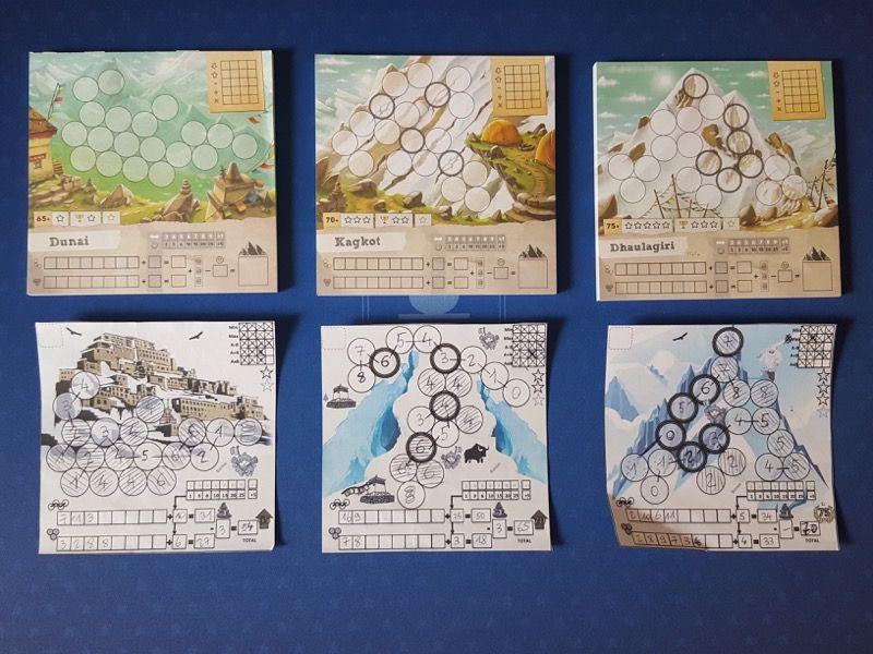 Les fiches du proto initial pour se donner une petite idée de l'évolution graphique et du travail d'Olivier  Derouetto. Merci de ne pas commenter les scores...