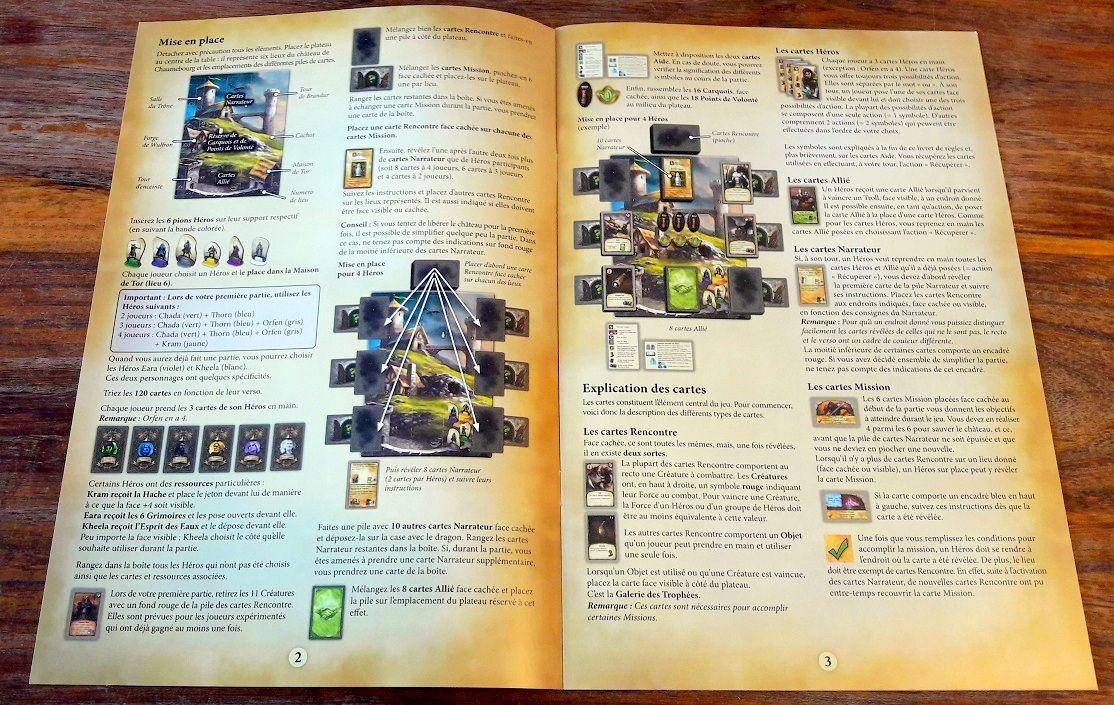 Les trois premières pages de règles ne parlent que du matériel et de comment l'utiliser.