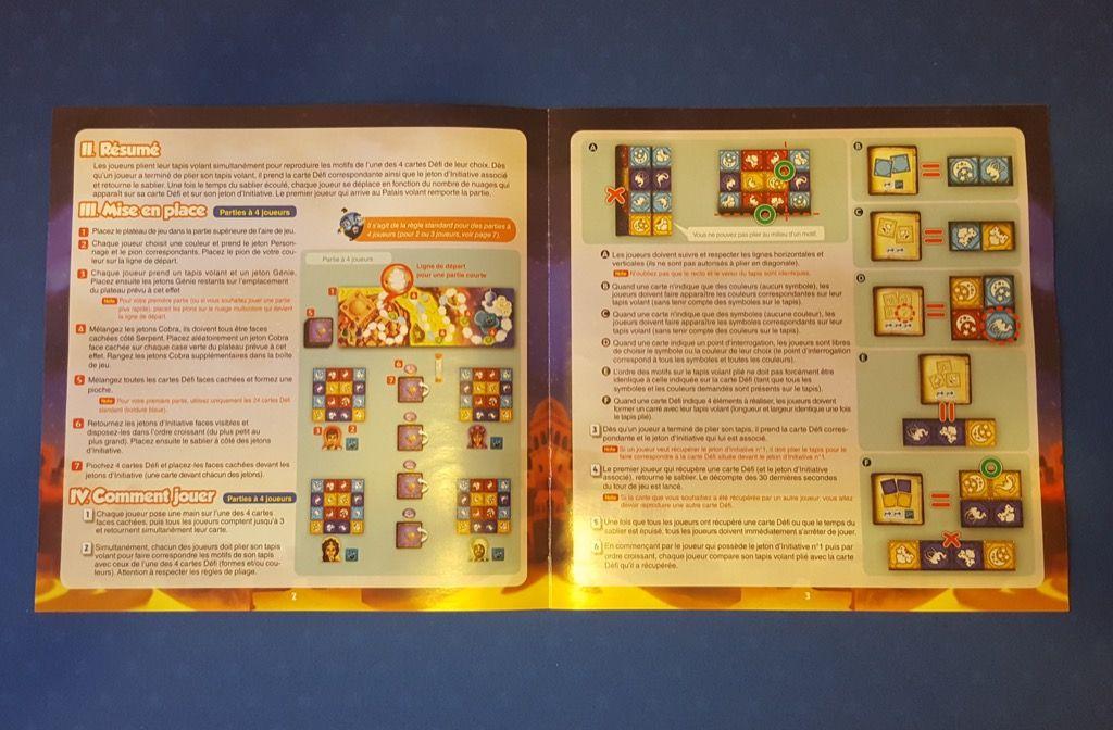La règle du jeu  (8 pages) avec pas mal d'illustrations pour aider à la compréhension du jeu.