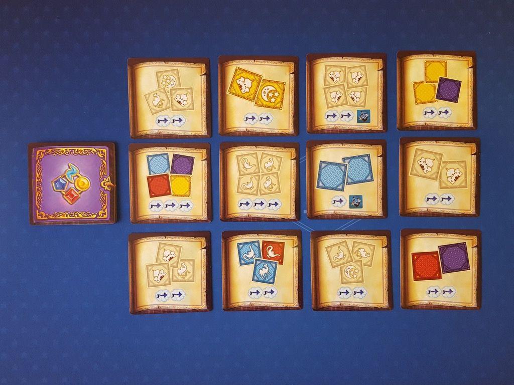 Quelques  exemples de cartes parmi 24 cartes défis standards avec un bord bleu.