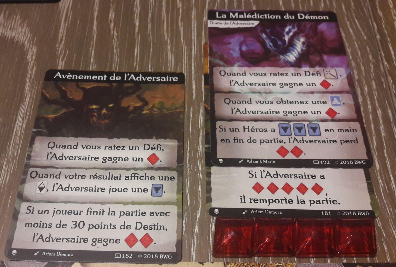 """La """"quête du démon"""" lui donne des points lorsque vous tirez une carte Héros."""