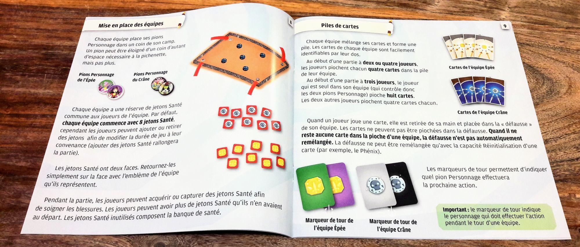 Les règles auraient mérité d'être réorganisé mais un début de partie illustre bien la mécanique du jeu.