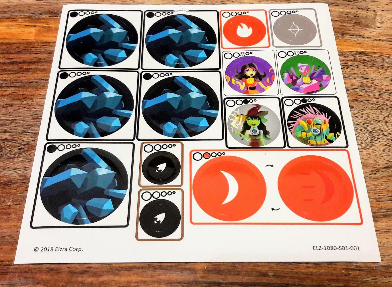 On nous dit parfaitement sur quel disque coller tel sticker, c'est top !