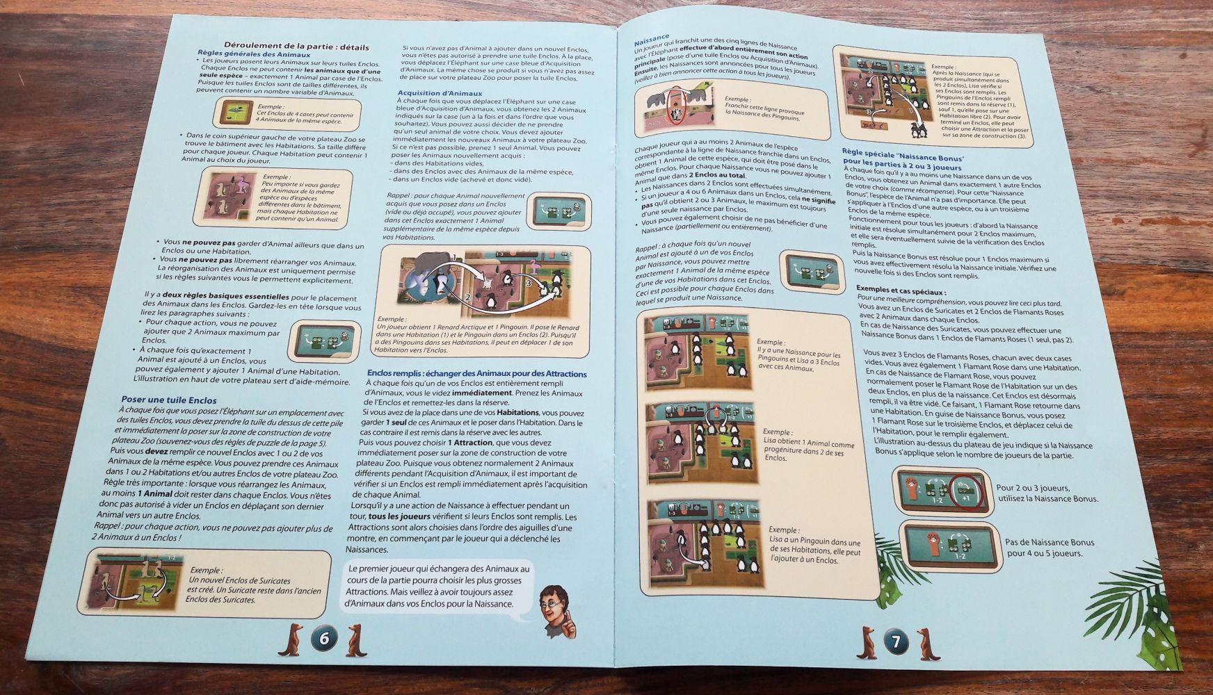 Un livret de règles complet très allemand avec des mises en avant bien utiles des points de règles clés.