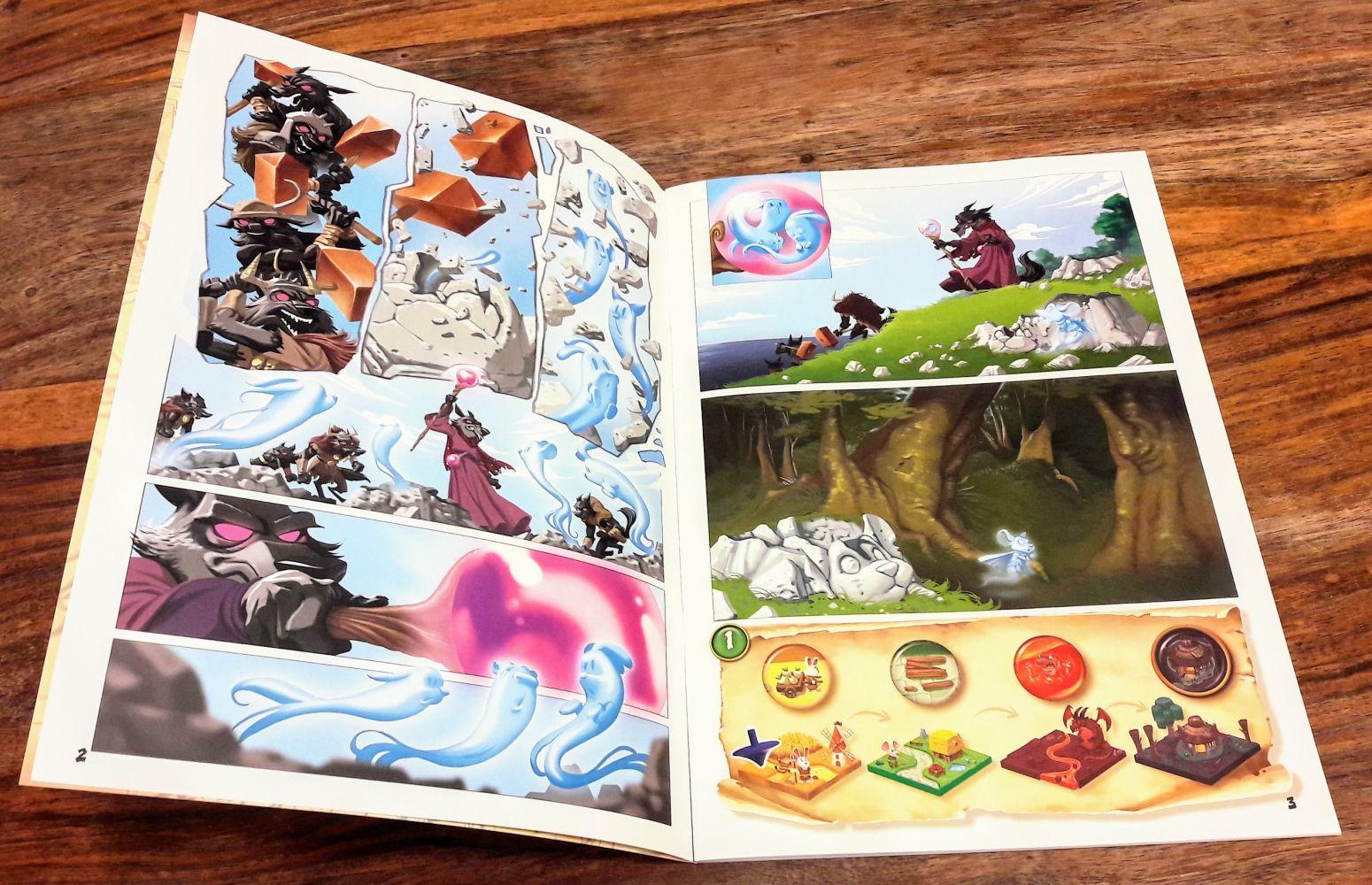Le mode aventure propose de lire une BD donc chaque chapitre amène une nouvelle mission.
