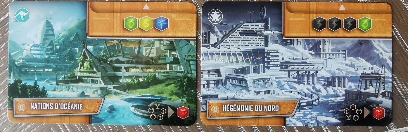 Les même cartes que ci dessus, retournées. asymétriques