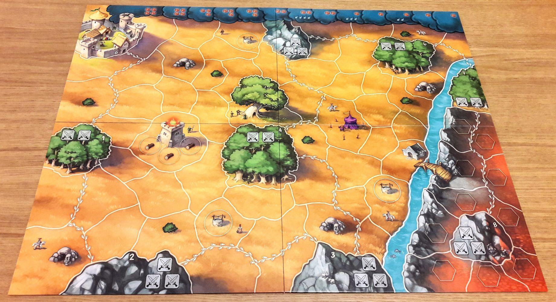 Superbe plateau plein de détails et qui ressemble au plateau original d'Andor.