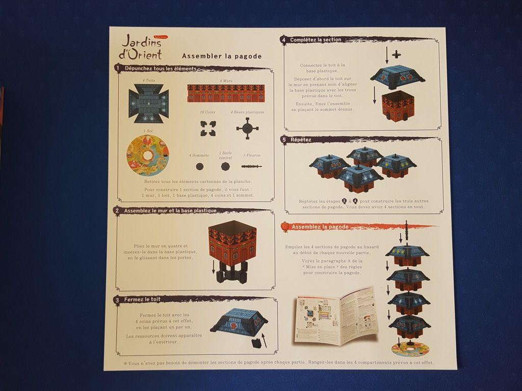 Notice de montage par étapes de la pagode : l'élément 3D essentiel du jeu !