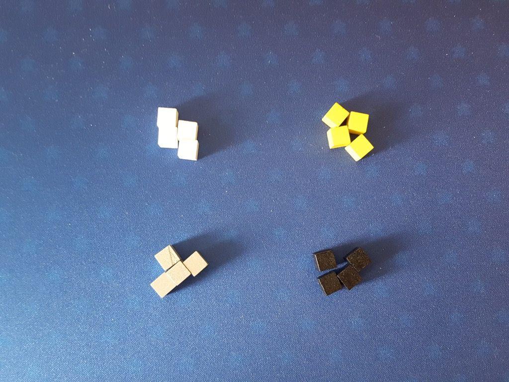 4 marqueurs par couleur de joueur..