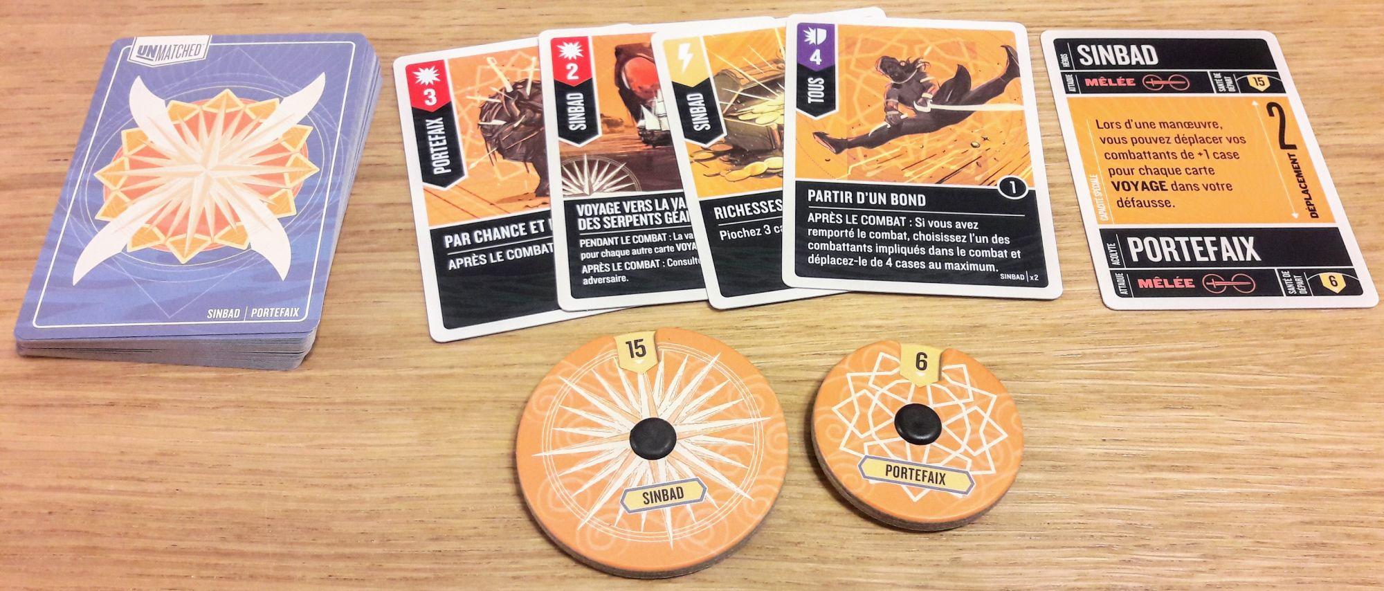 Le thème du voyage et de l'aventure de Simbad est bien représenté dans les cartes avec beaucoup de flexibilité.