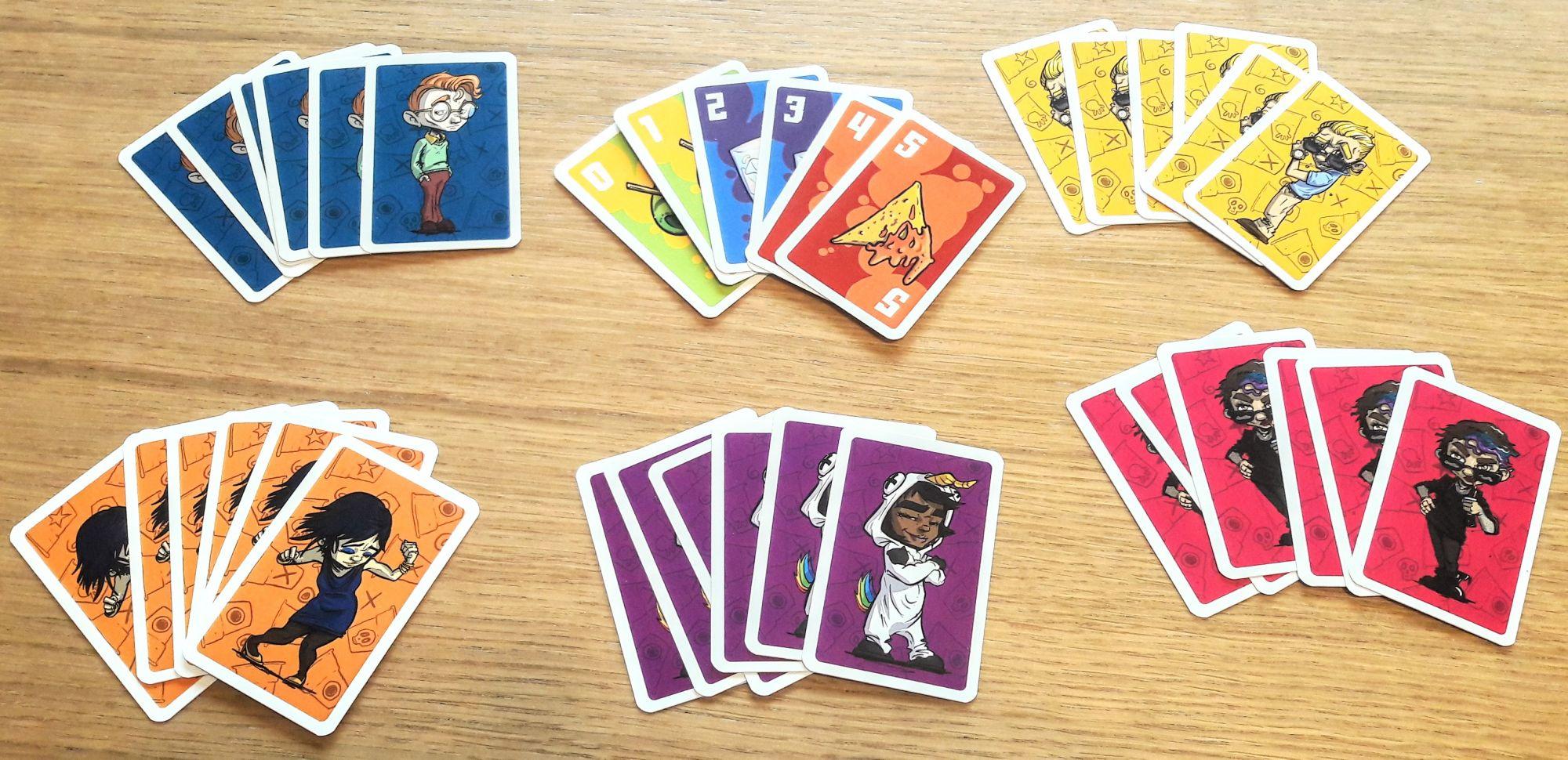 Chacun sa couleur avec ses 6 cartes vote de 0 à 5.