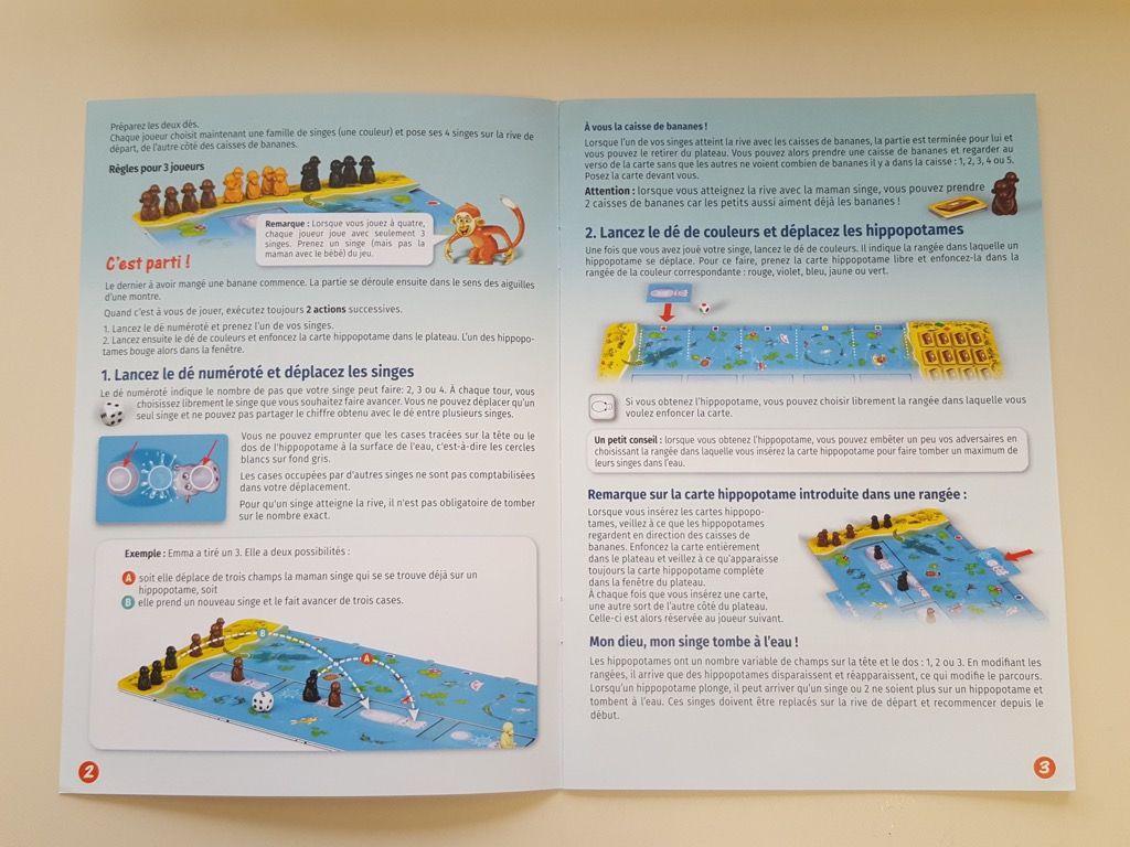 4 pages de règles bien illustrées et aérées dans 3 langues : français, allemand, italien.