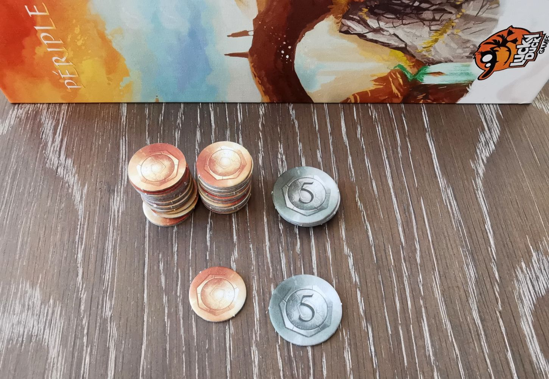 Les pièces : valeur 1 et 5
