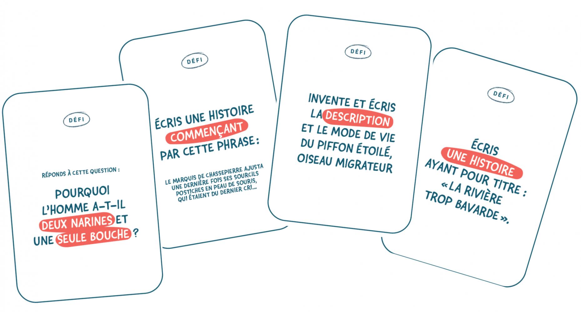 Exemples de cartes