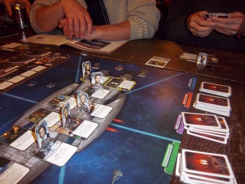 Une partie de Battlestar Galactica