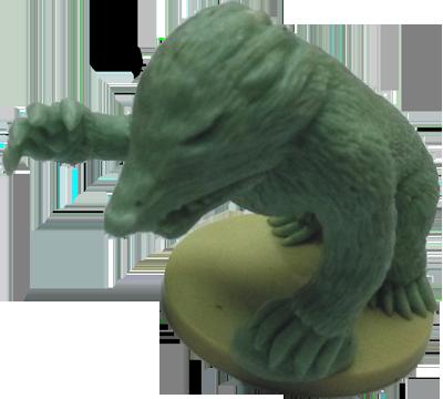 Échantillon de production de la figurine du Molox