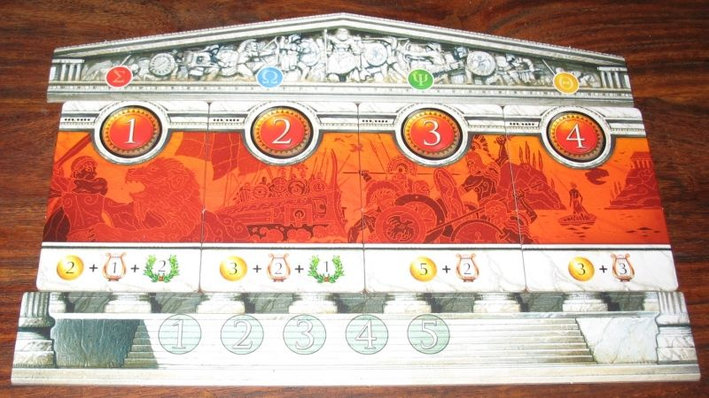 Les tuiles quêtes sont assemblées pour former un joli temple.