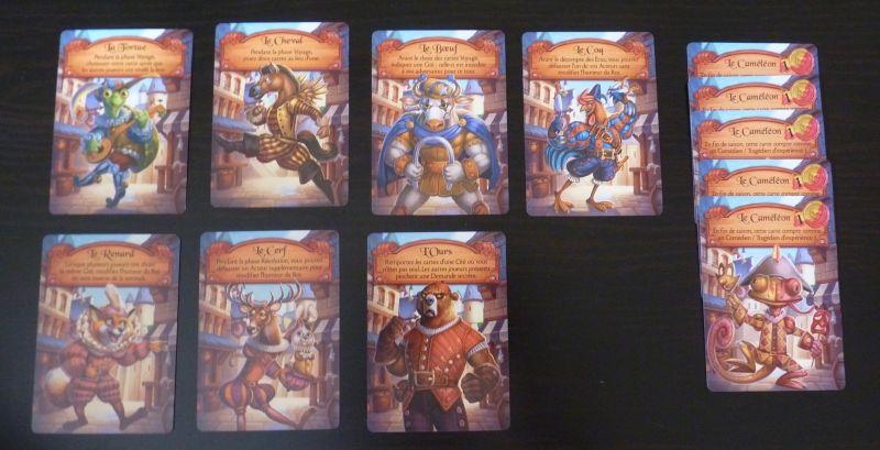 Pour finir dans les cartes Rencontre, les 12 cartes Primes avec 5 cartes Caméléon.