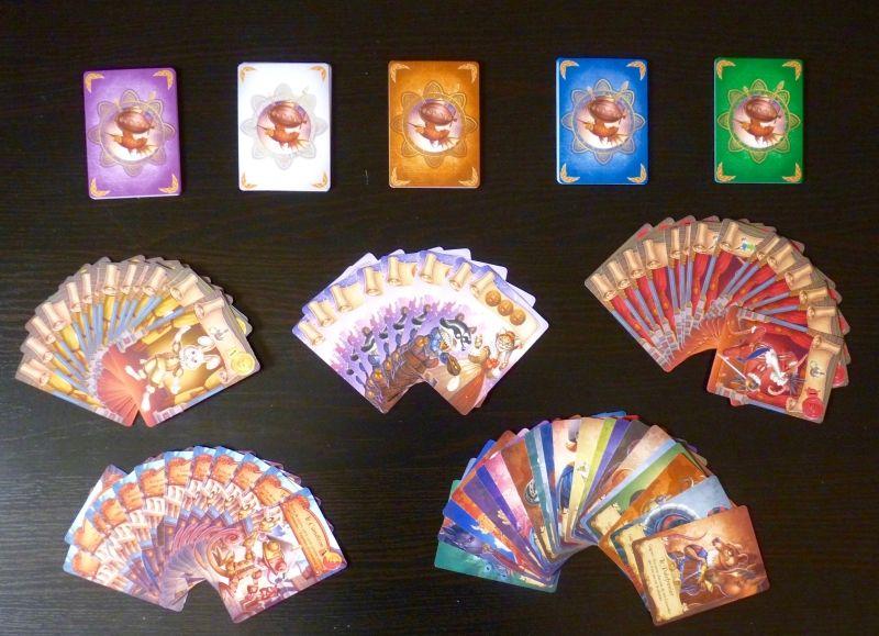 L'ensemble des 48 cartes du jeu.