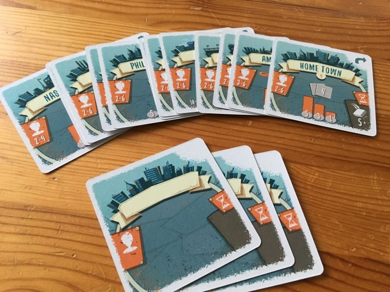 """Les cartes """"ville"""""""