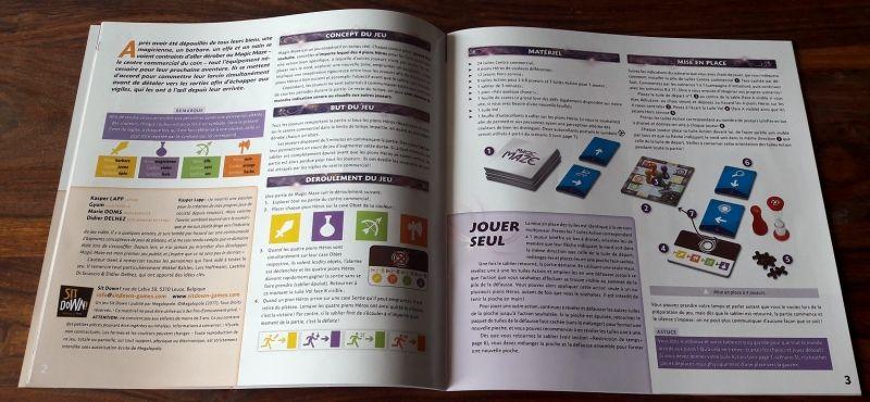 Le livret de règles contient les règles en 4 langues svp !